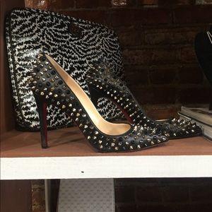 Louboutin Black Spike Pigalle Heels